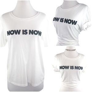 NOW IS NOW | White Cotton T-Shirt